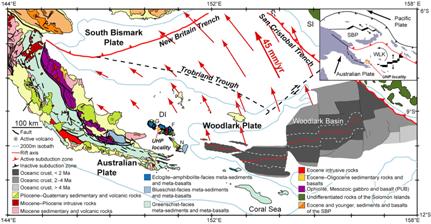 tectonic and geologic map